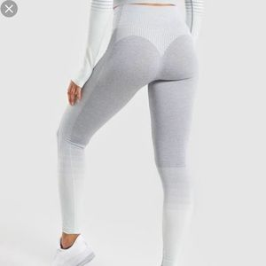 Gymshark amplify sea foam green grey legging